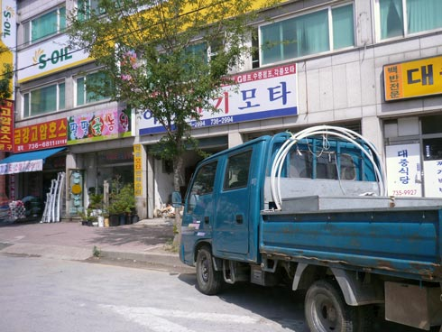 Main street shops in Nonsan.