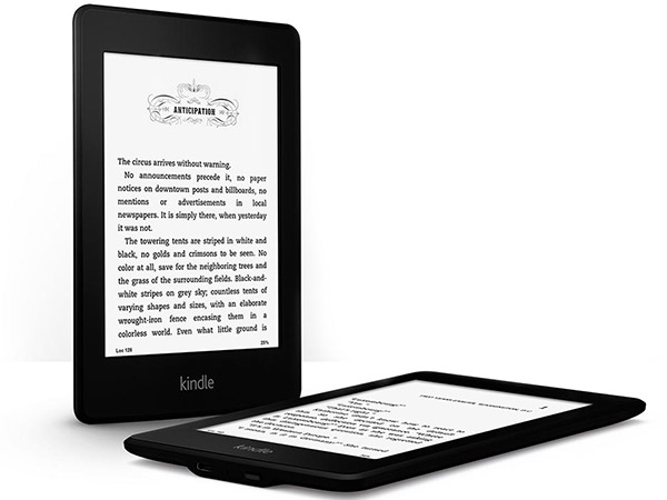 The Kindle Paperwhite e-ink reader