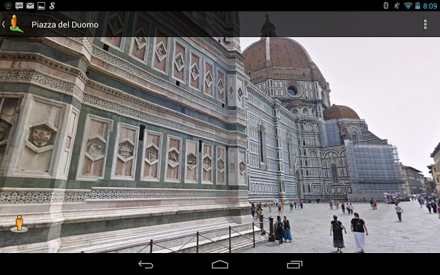 Florence's famous Duomo cathedral, from Streetview.