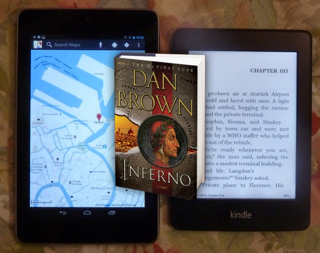 Kindle, Nexus 7 and Dan Brown's Inferno