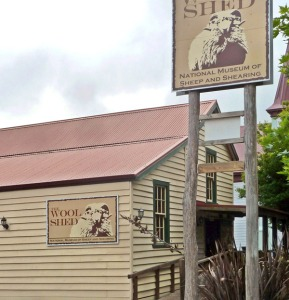 Street entrance for the Wool Shed Museum complex. The museum is housed in two historic Wairarapa wool sheds that were trucked into Masterton's CBD, close to the Aratoi Museum. The Wool Shed is New Zealand's national museum of sheep and shearing, set up in 2005 in Masterton's CBD, in two relocated historic historical woolsheds.