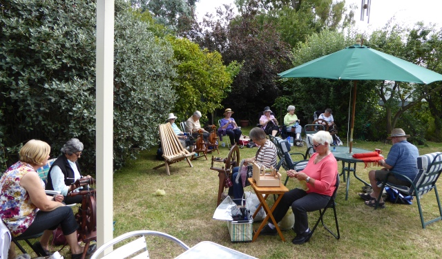 Spinners & weavers garden day wide view from south 2016