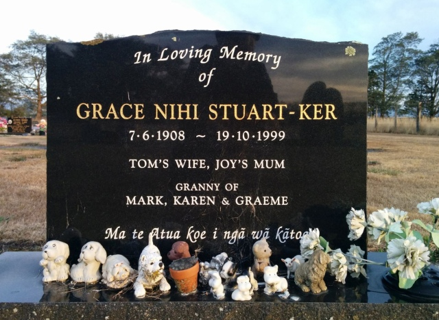 Maori grave, Martinborough, NZ, 2015.