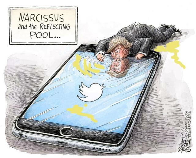 Narcissus and the reflecting pool